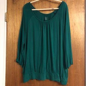 Lane Bryant Green Top Size 26/28